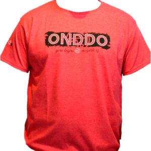 Camiseta Hombre Onddo ta Punto Manga Corta Roja