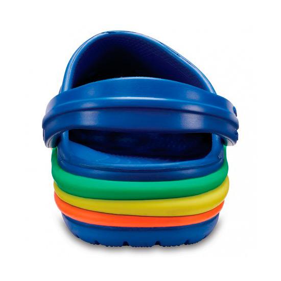 Chancletas Niño Crocs CB Rainbow Band Clog K Azul | Kantxa Kirol Moda